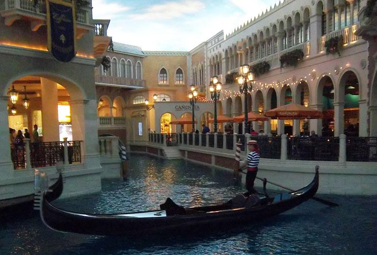 Las Vegas Gondolas in the Venitian