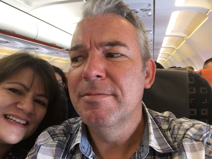 Mr and Mrs W On A Plane