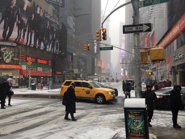 Snowy NYC Street