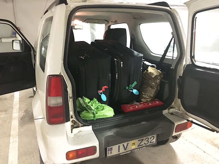 Jimny With Luggage