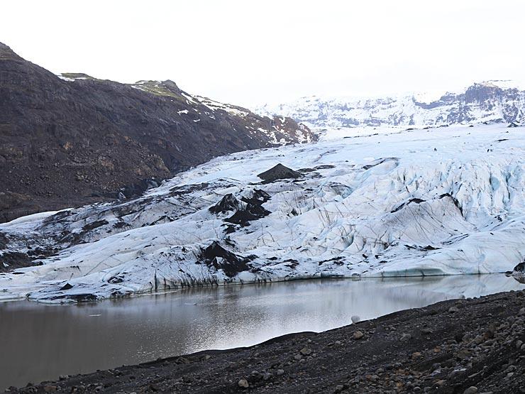 Sólheimajökull Glacier near Vik, iceland
