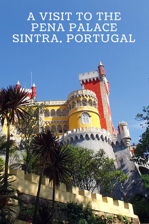 The Pena Palace in the Sintra Mountains, near Lisbon Portugal.
