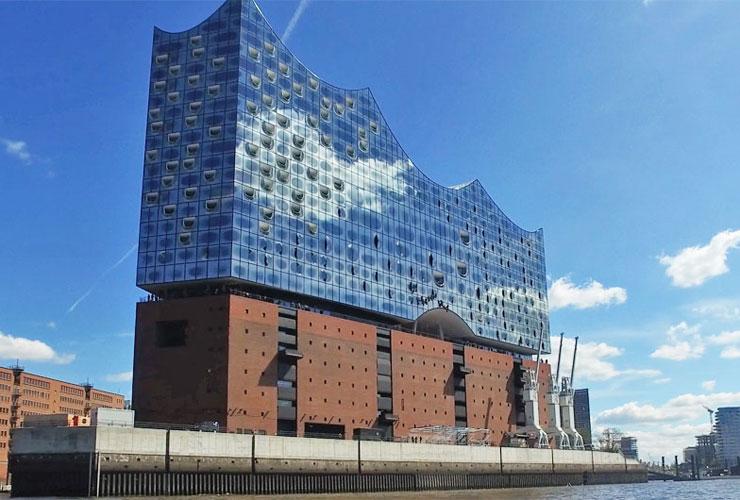 The new concert hall, the Elbphilharmonie Hamburg