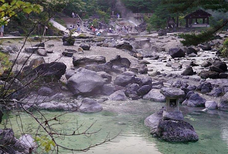 Bath in an onsen