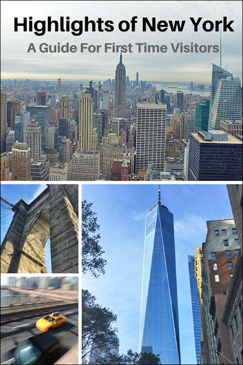 Highlights of New York City,. A guide for first time visitors