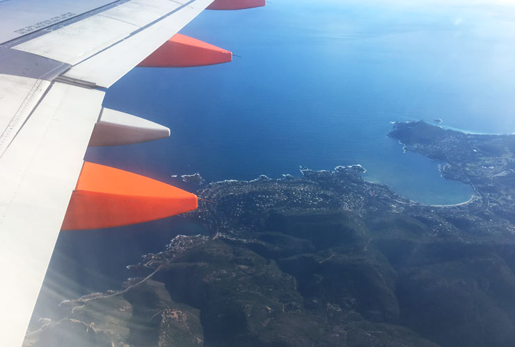 Landing at Nice EasyJet