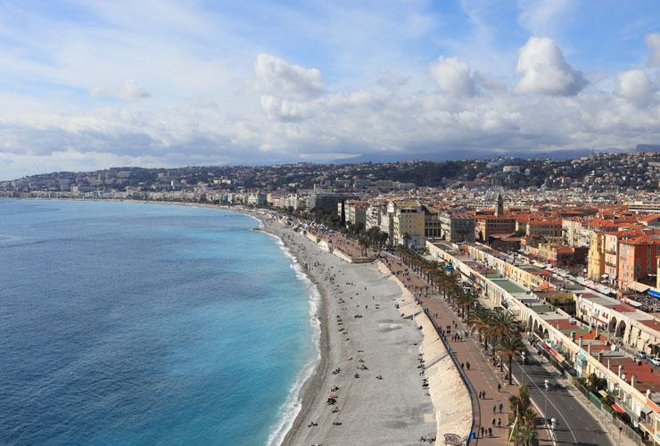The Promenade in Nice France.