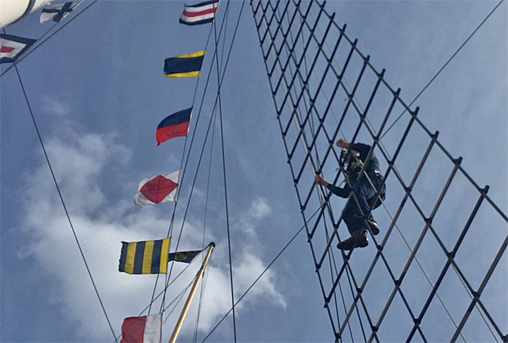 Climbing the rigging of the SS Great Britain