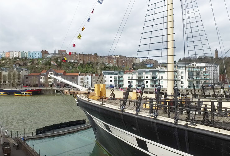 The bow of the SS Great Britain