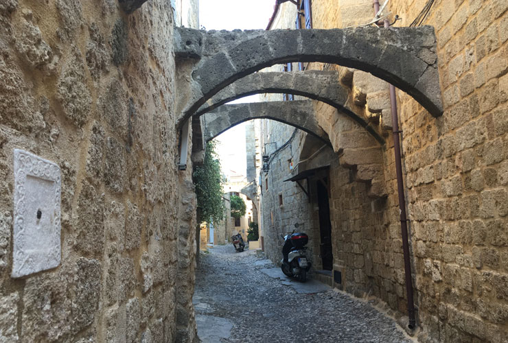 The medieval streets of Rhodes