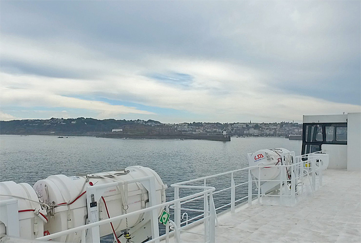Arriving at Guernsey