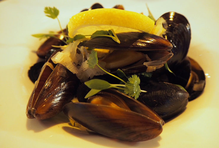 Mussels with Leek and Cider