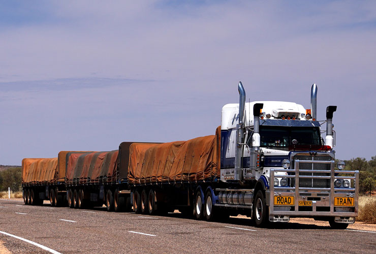 An Australian Road Train