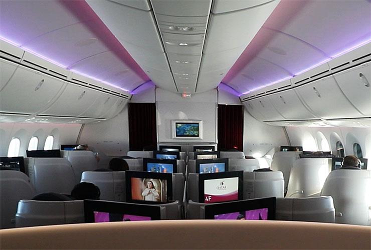 Business class cabin 787