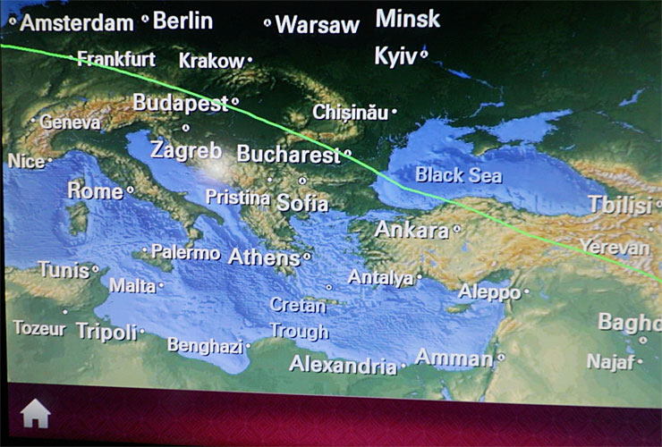 787 Dreamliner Flight Map
