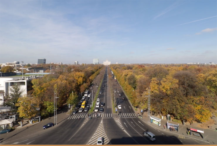 View from the Arcul de Triumf