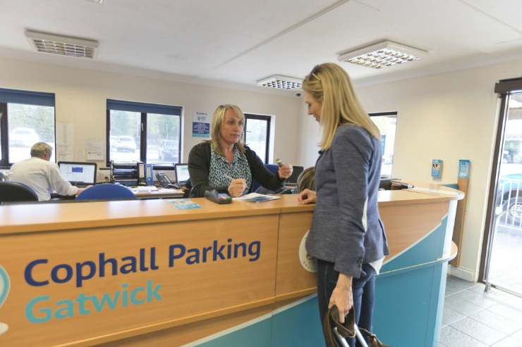 reception Cophall Parking Gatwick