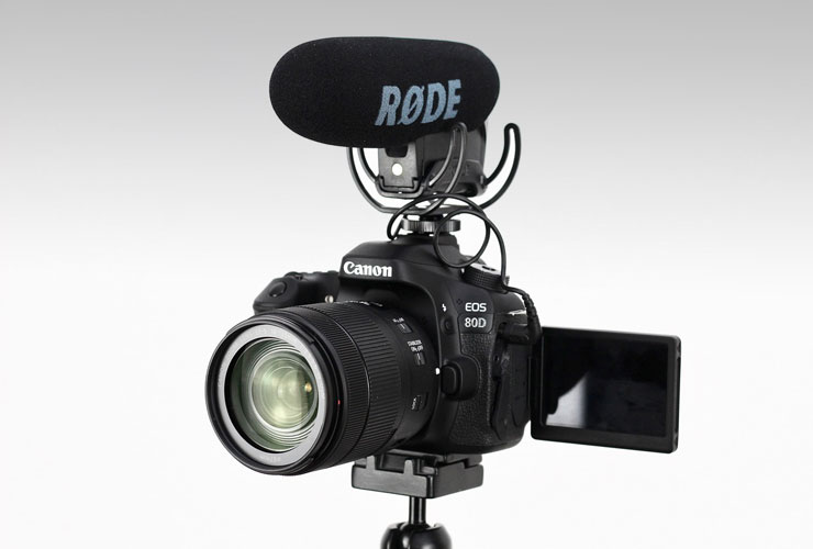 Canon-80D and Rode Video Mic Pro