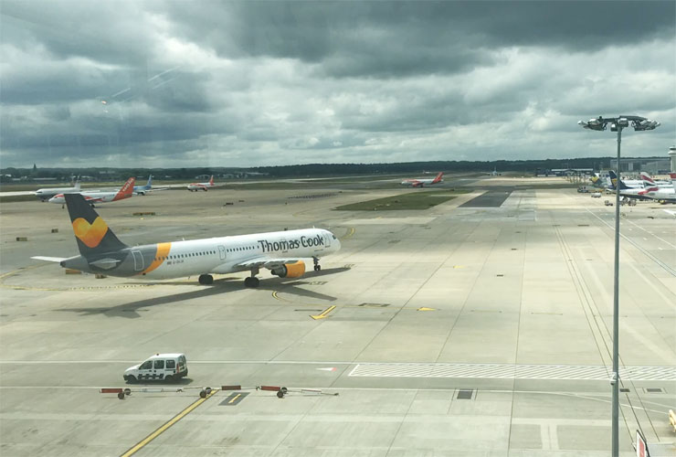 Grey Skies Over Gatwick Airport