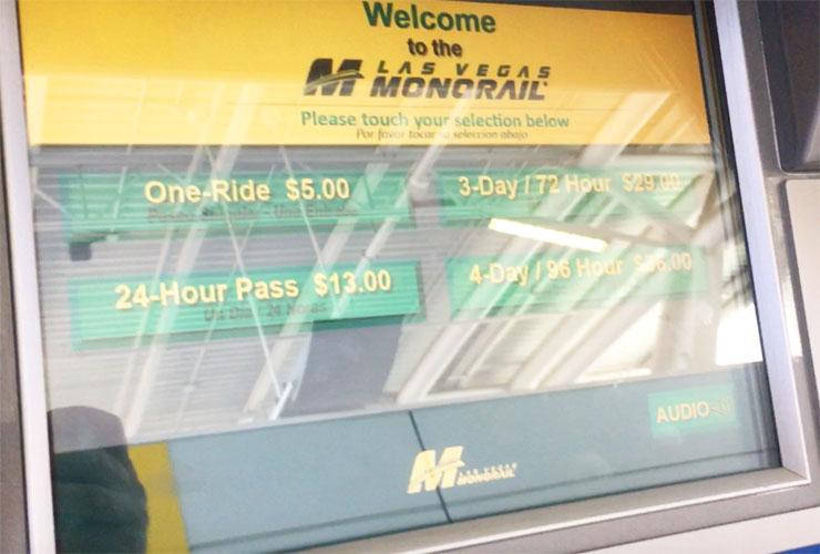 Monorail Ticket Machines