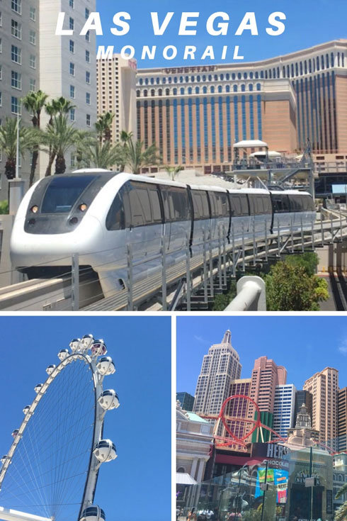 Riding the Las Vegas Monorail up and down the Strip #LVmonorail
